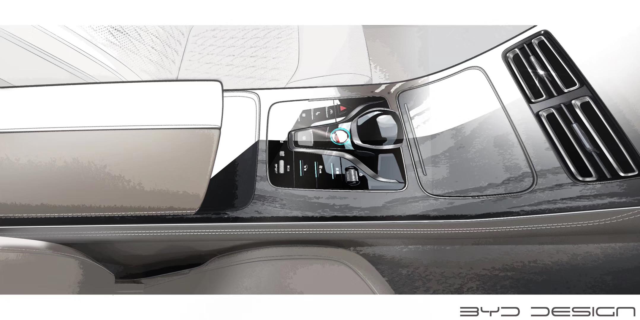 定位B级轿车 比亚迪HC内饰设计图发布