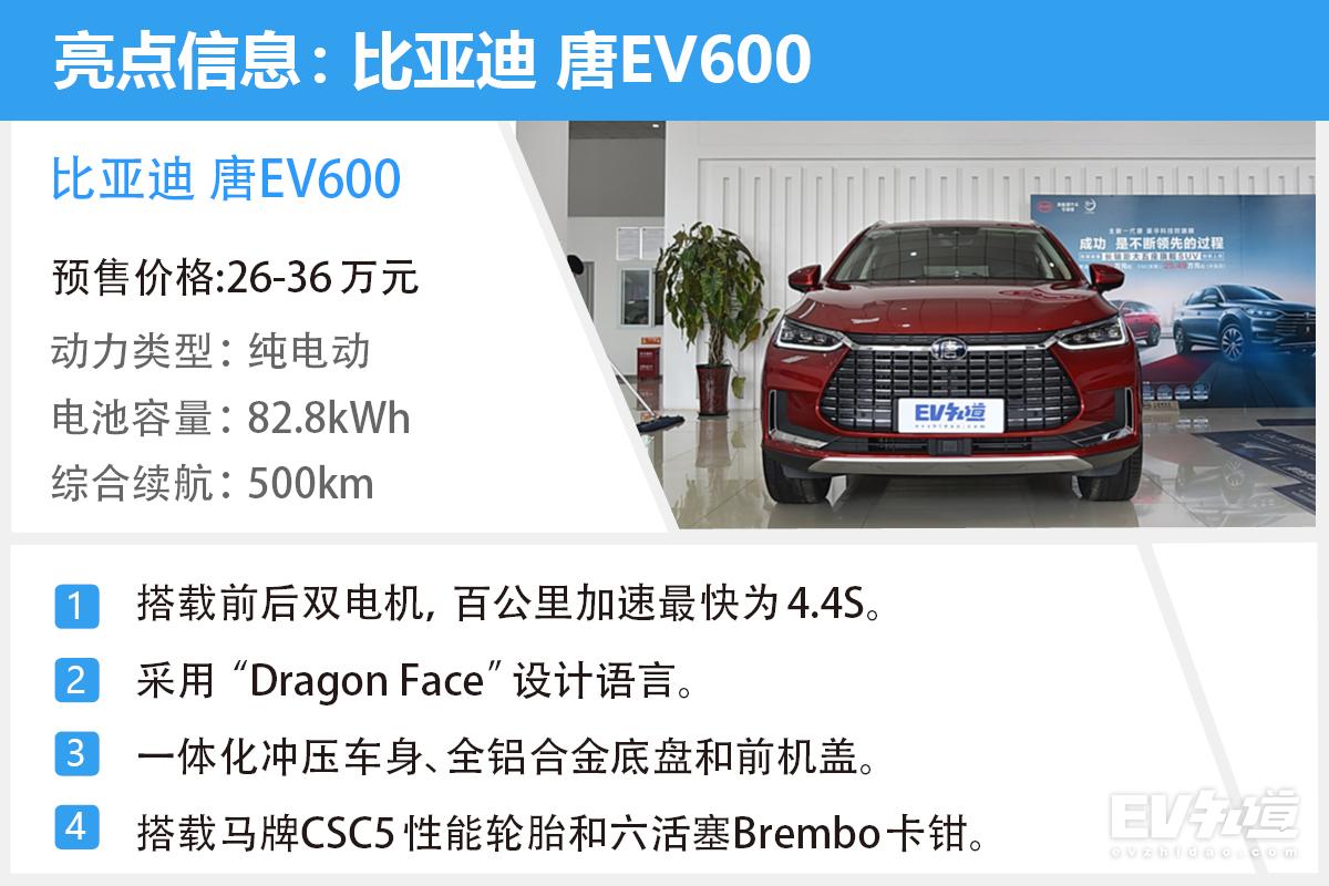 综合续航达500km 比亚迪唐EV600到店实拍