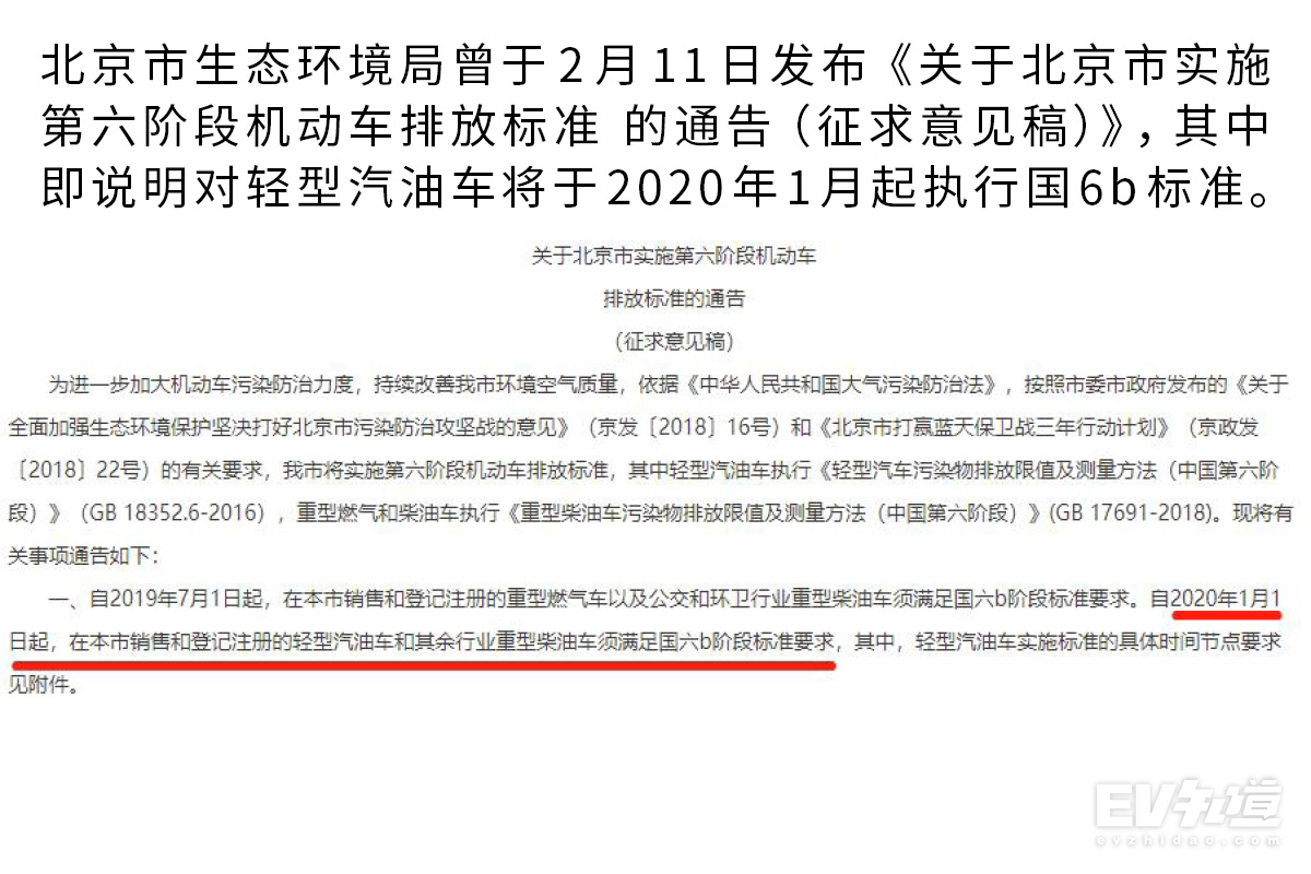北京仍将于明年1月起施行国六b 国六到底是什么