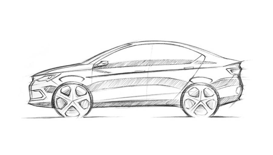 推三款纯电动汽车 雷丁野马新车设计草图曝光