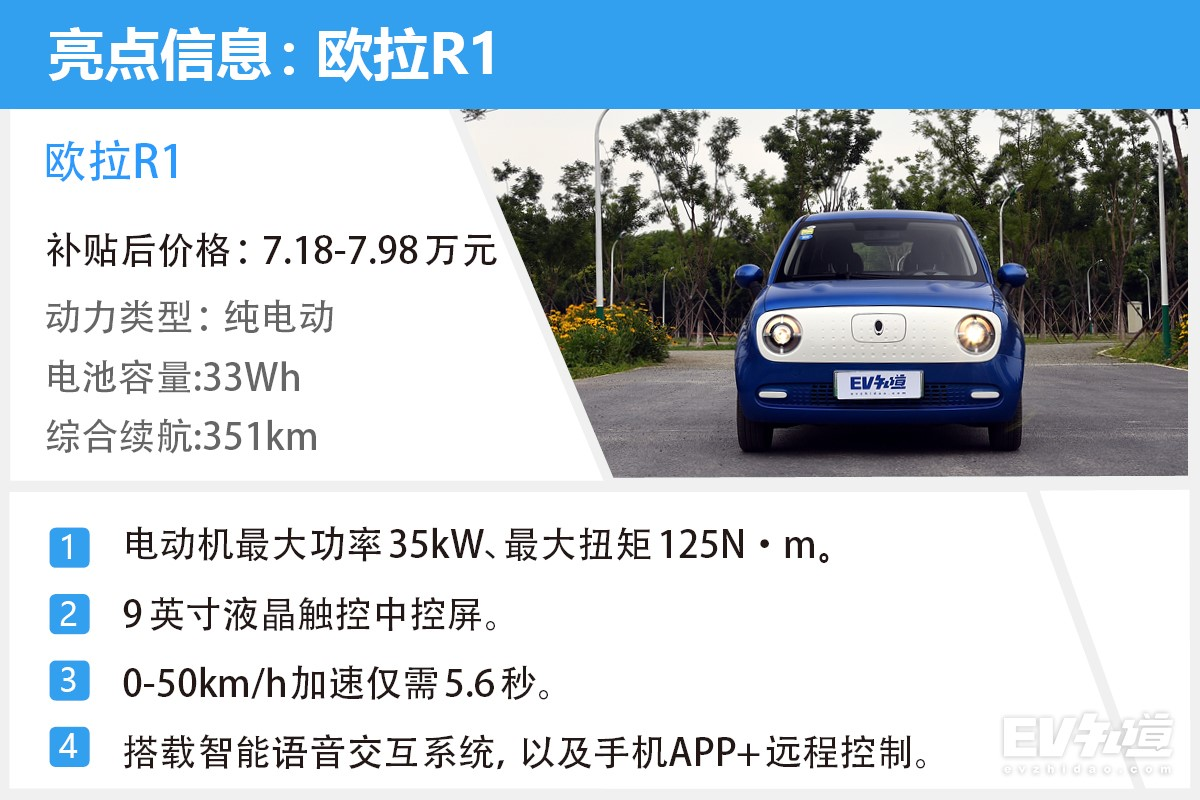 具有优良的电耗表现 多方位体验欧拉R1
